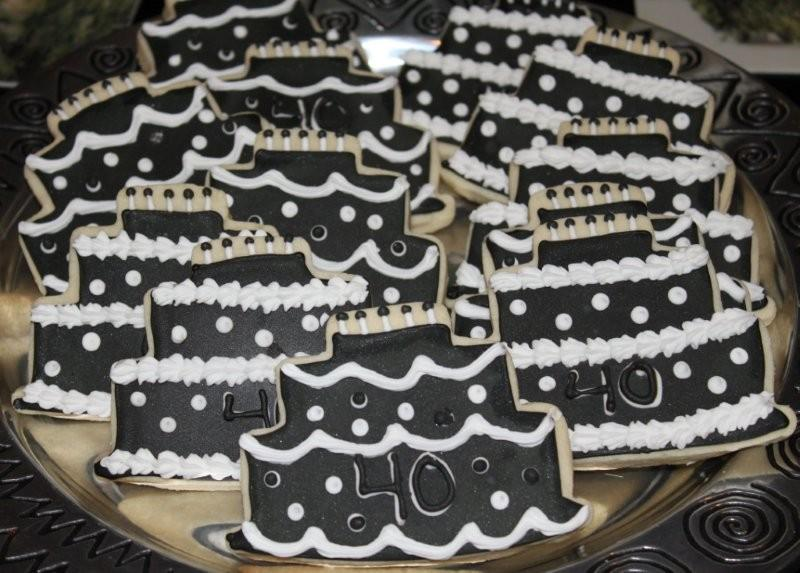 Stay At Home Baker 40th Bithday Cookies